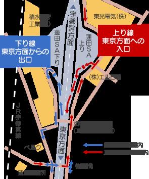 ETC搭載で東京方面から東北自動車道をご利用の場合