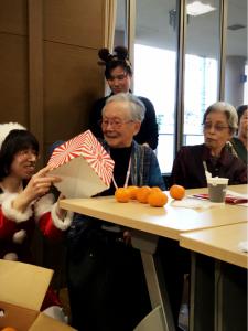 2019年12月24日クリスマス会、27日~恒例!!オーク餅つき~
